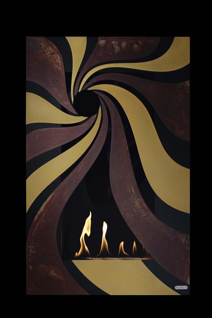 Design Wand Kamin Glammfire Hypnosz