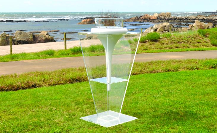 flut acrylglas ständer glamm fire