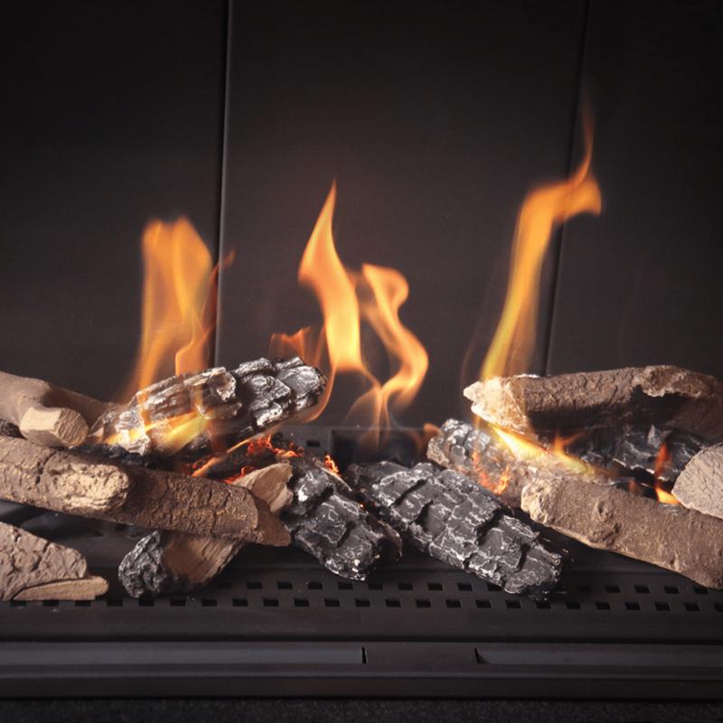 Keramik Holzscheite für Gas Kamine